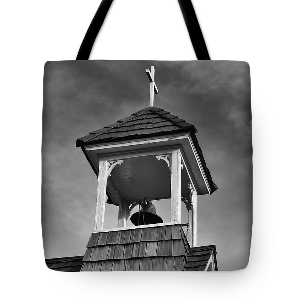 Balls Falls Church Tote Bag featuring the photograph Ball's Falls Bell by Guy Whiteley