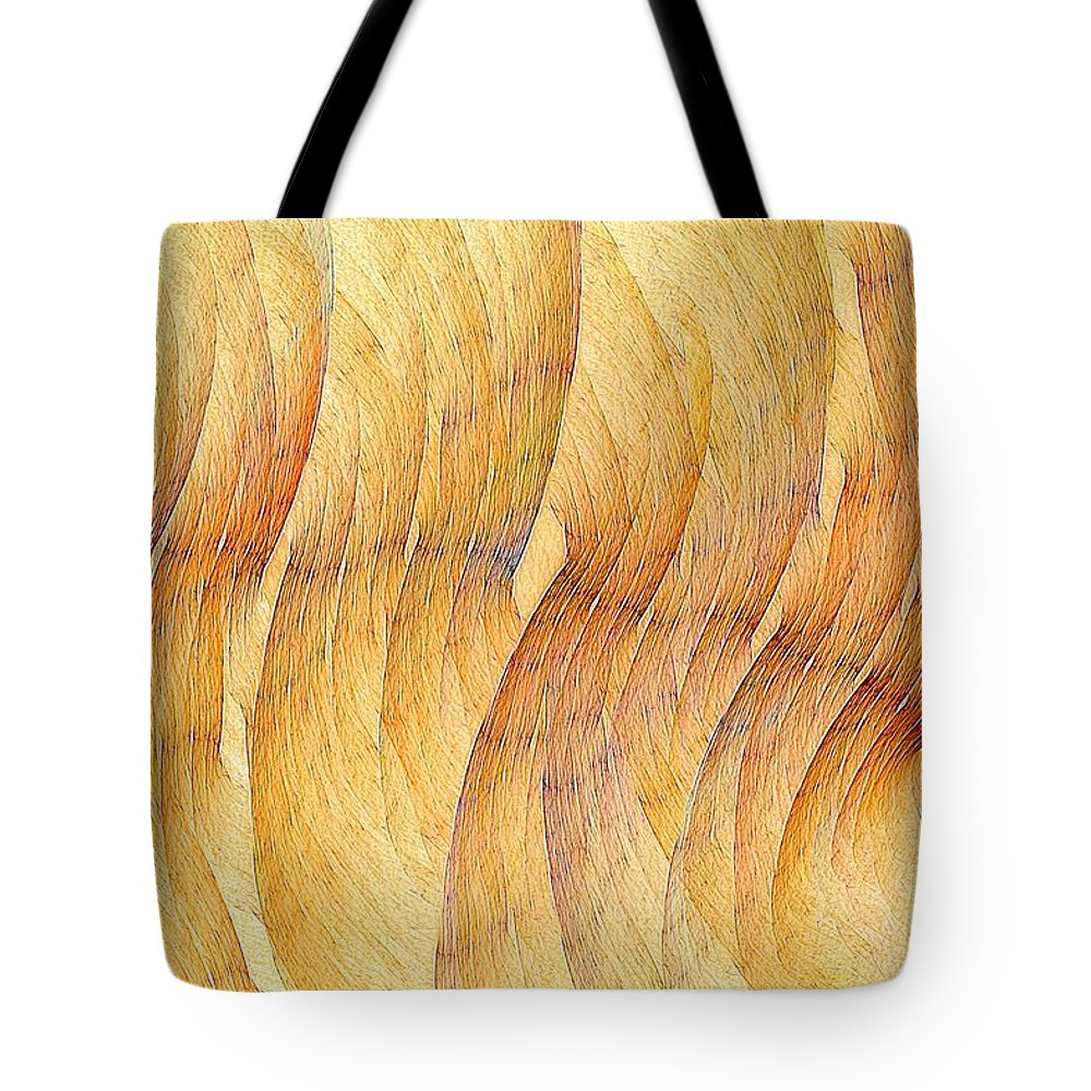 Fractal Abstract Tote Bag featuring the digital art Balsa Woods by Doug Morgan