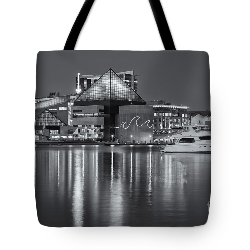 Clarence Holmes Tote Bag featuring the photograph Baltimore National Aquarium At Twilight II by Clarence Holmes