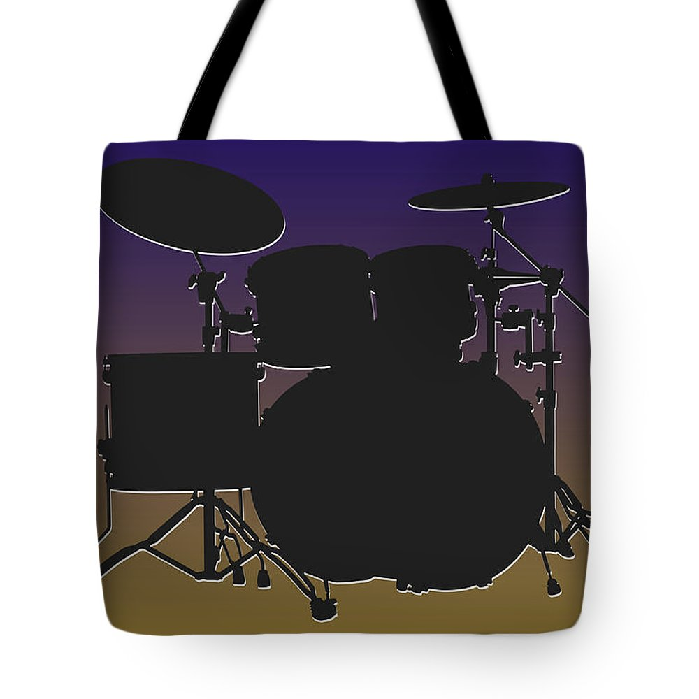 Ravens Tote Bag featuring the photograph Baltimore Ravens Drum Set by Joe Hamilton