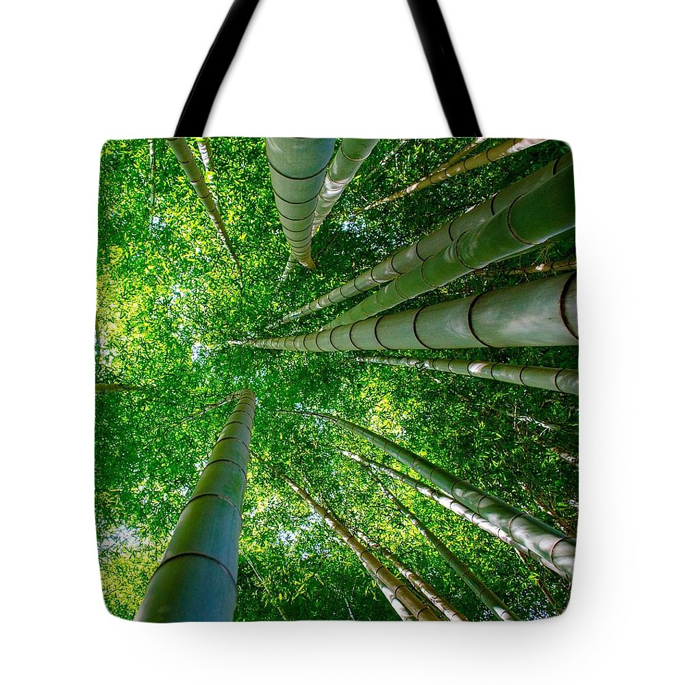 Japan Tote Bag featuring the photograph Bamboo Forest by Alex Snay