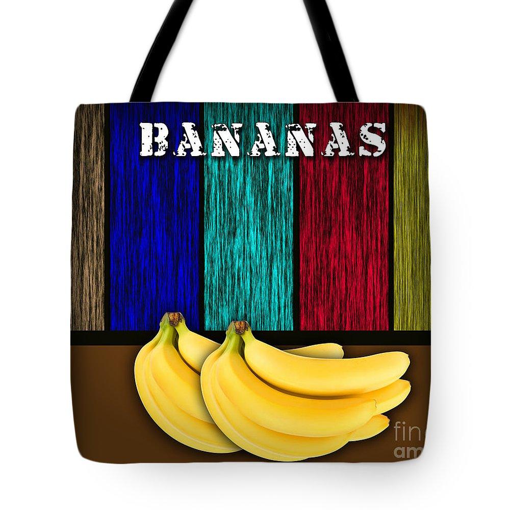 Bananas Photographs Mixed Media Tote Bag featuring the mixed media Bananas by Marvin Blaine