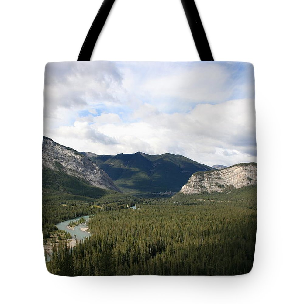 Alberta Tote Bag featuring the photograph Banff by Betty-Anne McDonald