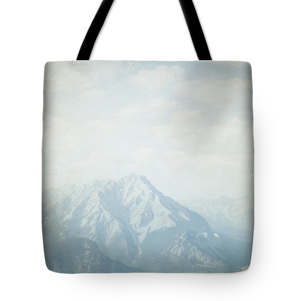 Rustic Wall Art Tote Bag featuring the photograph Banff National Park - Alberta Canada - Square by Lisa Parrish