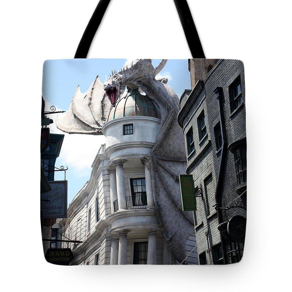 Orlando Tote Bag featuring the photograph Bank Guard by David Nicholls