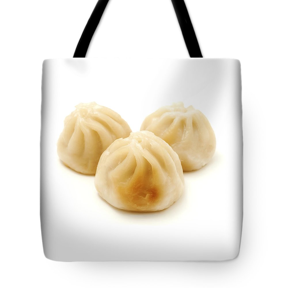 White Background Tote Bag featuring the photograph Baozi by Fabrizio Troiani