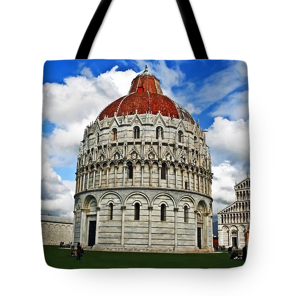 Landscape Tote Bag featuring the photograph Baptistery Of St. John by Elvis Vaughn