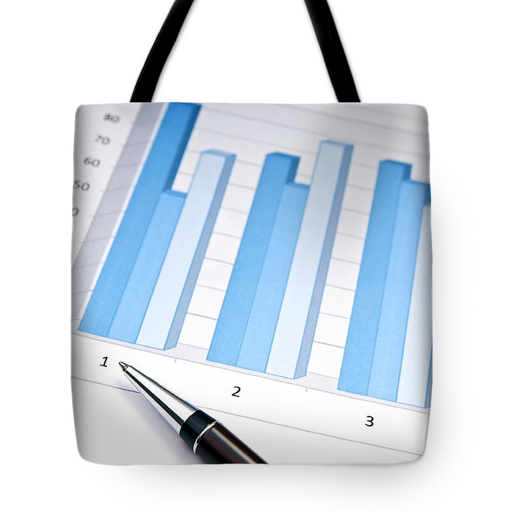 Accounting Tote Bag featuring the photograph Bar Chart by Tim Hester