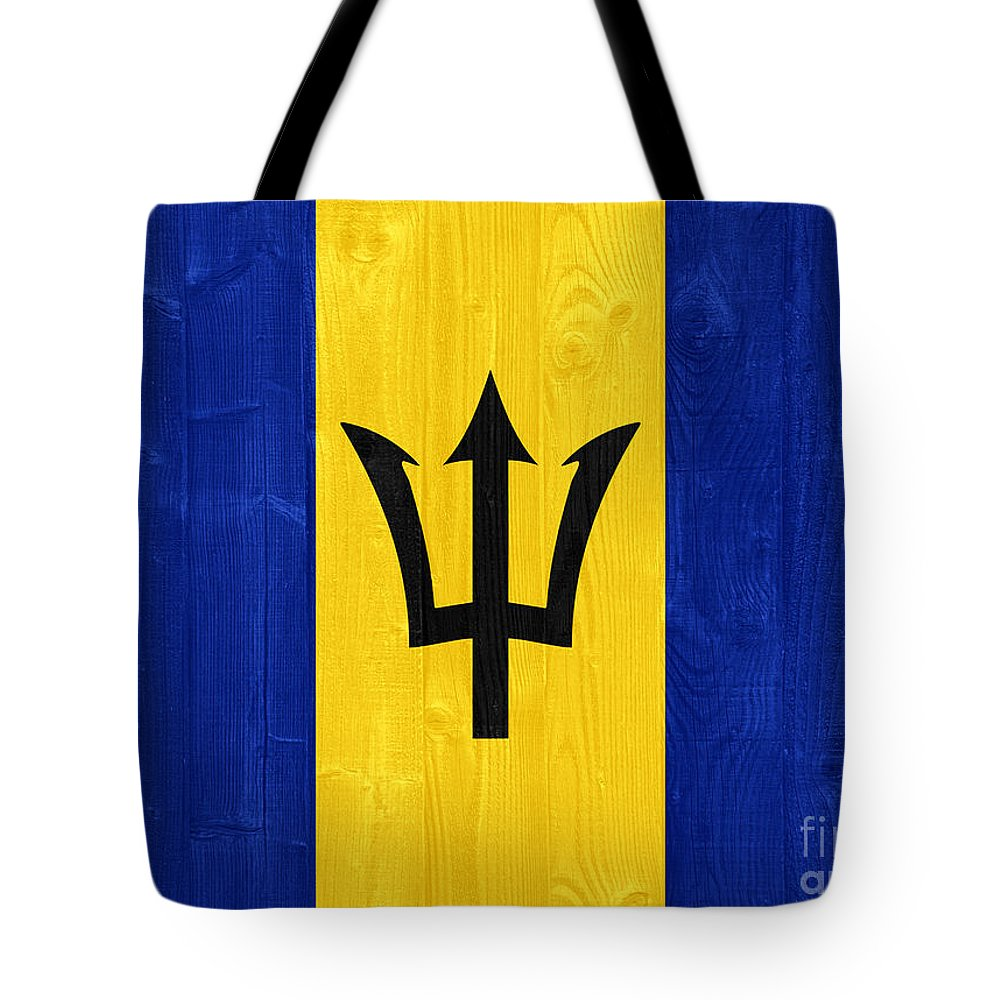 Barbados Tote Bag featuring the photograph Barbados Flag by Luis Alvarenga