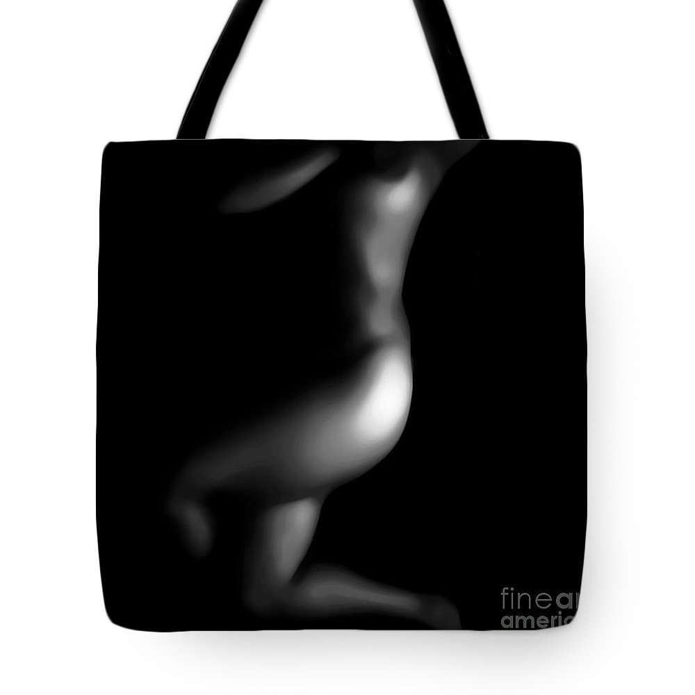 Black Tote Bag featuring the photograph Bare by Jessica Shelton