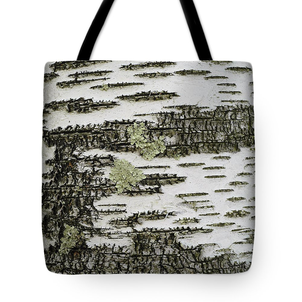 Bark Tote Bag featuring the photograph Bark Of Paper Birch by Gregory G Dimijian