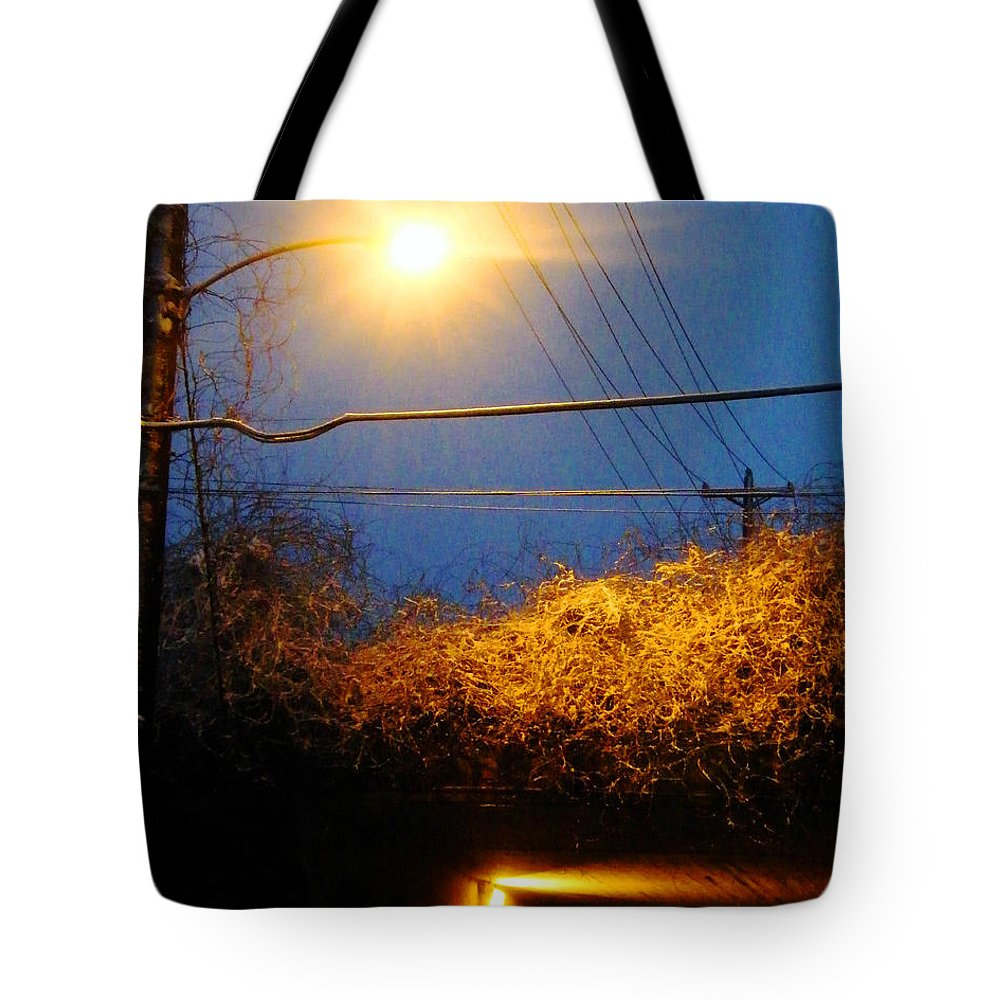 Trestle Tote Bag featuring the photograph Barksdale Blue And Yellow by Lizi Beard-Ward