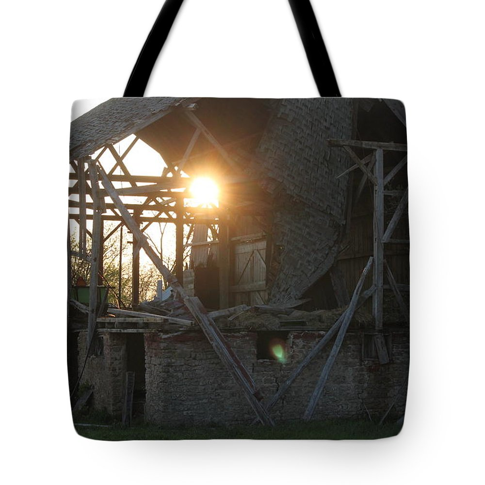 Ghost Tote Bag featuring the photograph Barn by Dan Young