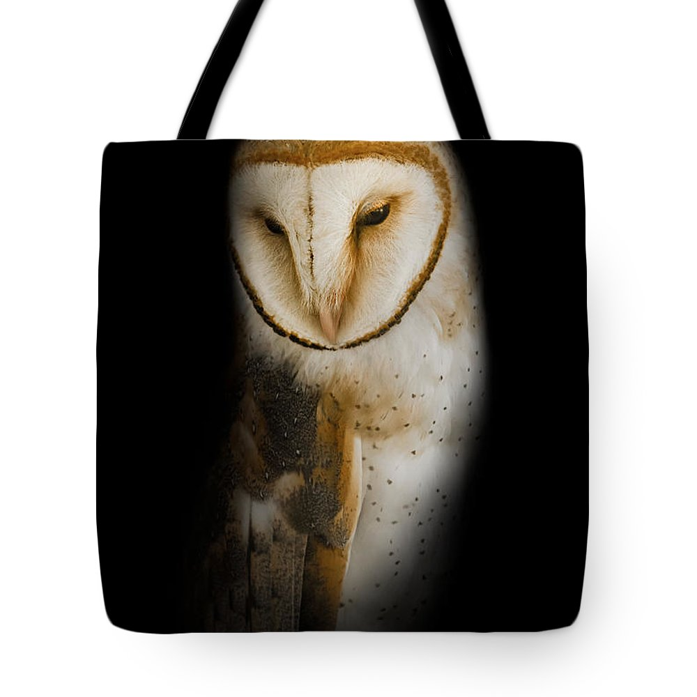 Owl Tote Bag featuring the photograph Barn Owl by Bill Wakeley