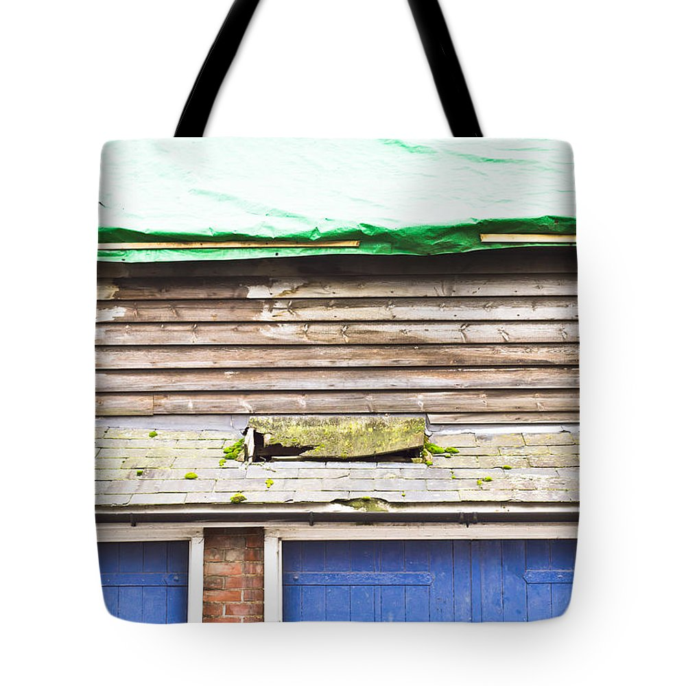 Abandoned Tote Bag featuring the photograph Barn Repairs by Tom Gowanlock