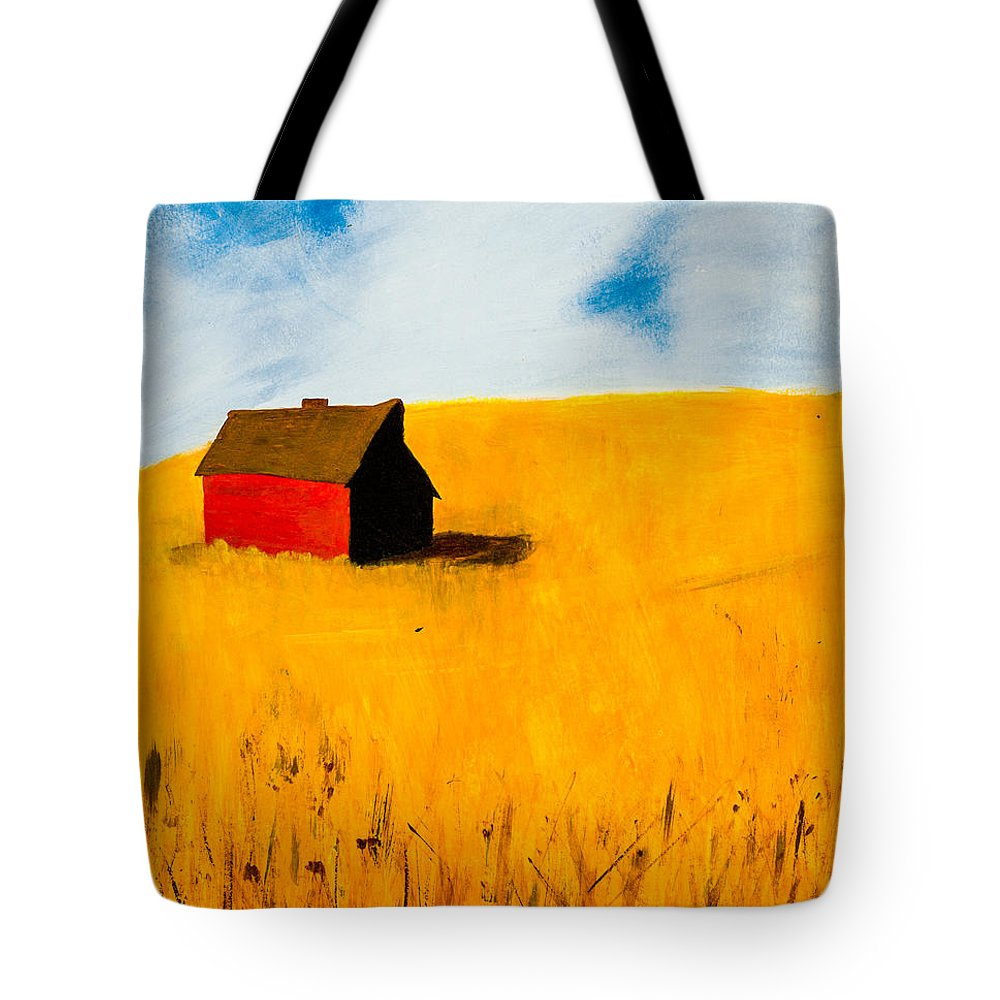 Barn Tote Bag featuring the painting Barn by Stefanie Forck