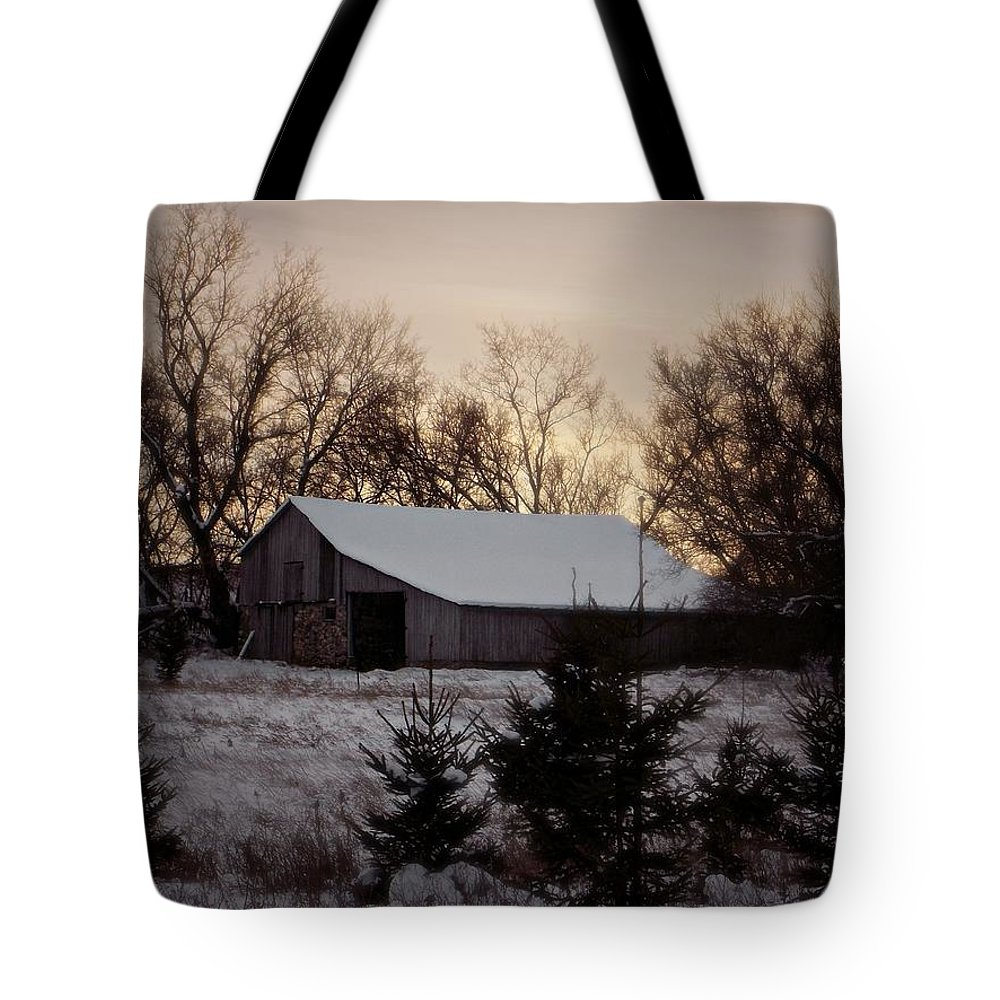 Barn Tote Bag featuring the photograph Barn Wood by Belinda Olivastri