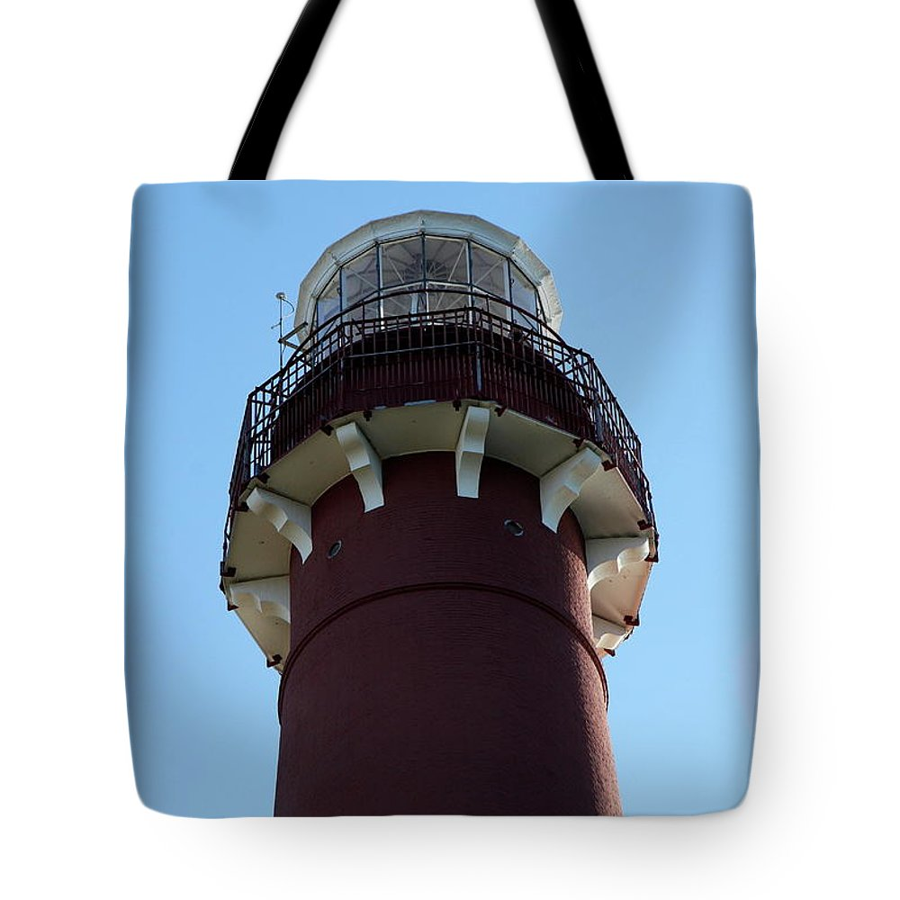 Barnegat Lighthouse Tote Bag featuring the photograph Barnegat Light - Lighthouse Top by Christiane Schulze Art And Photography