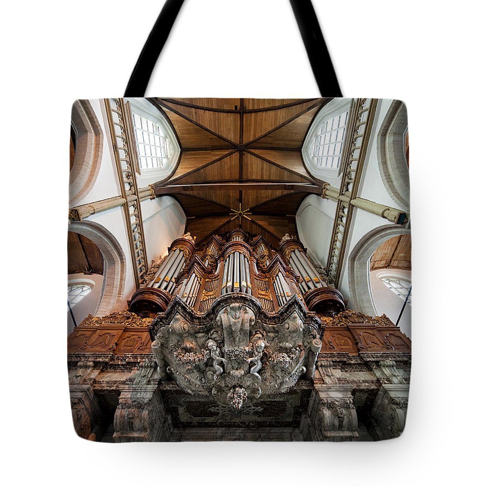 Oude Tote Bag featuring the photograph Baroque Grand Organ In Oude Kerk by Artur Bogacki