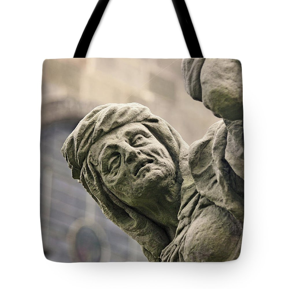 Covetousness Tote Bag featuring the photograph Baroque Statue Depicting Avarice by Jaroslav Frank