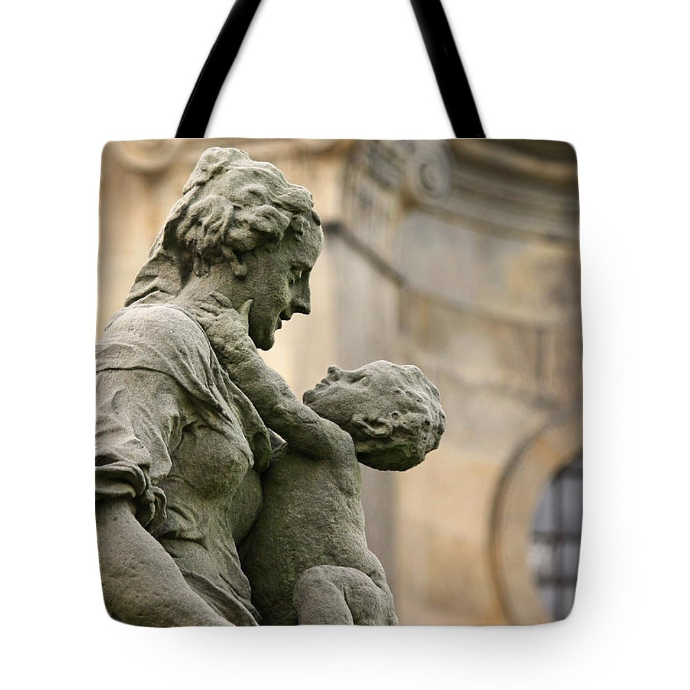 Architecture Tote Bag featuring the photograph Baroque Statue Depicting Motherhood by Jaroslav Frank