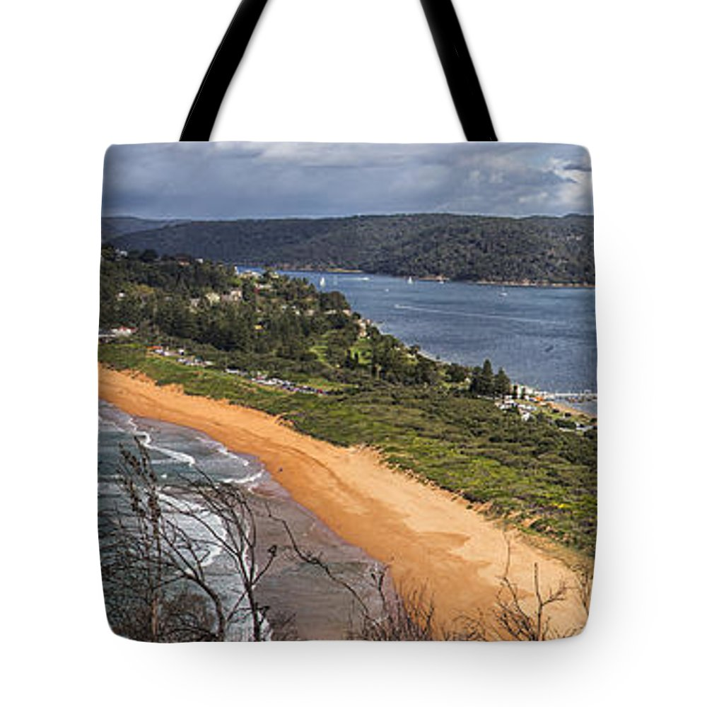 Barrenjoey Tote Bag featuring the photograph Barrenjoey panorama by Sheila Smart Fine Art Photography