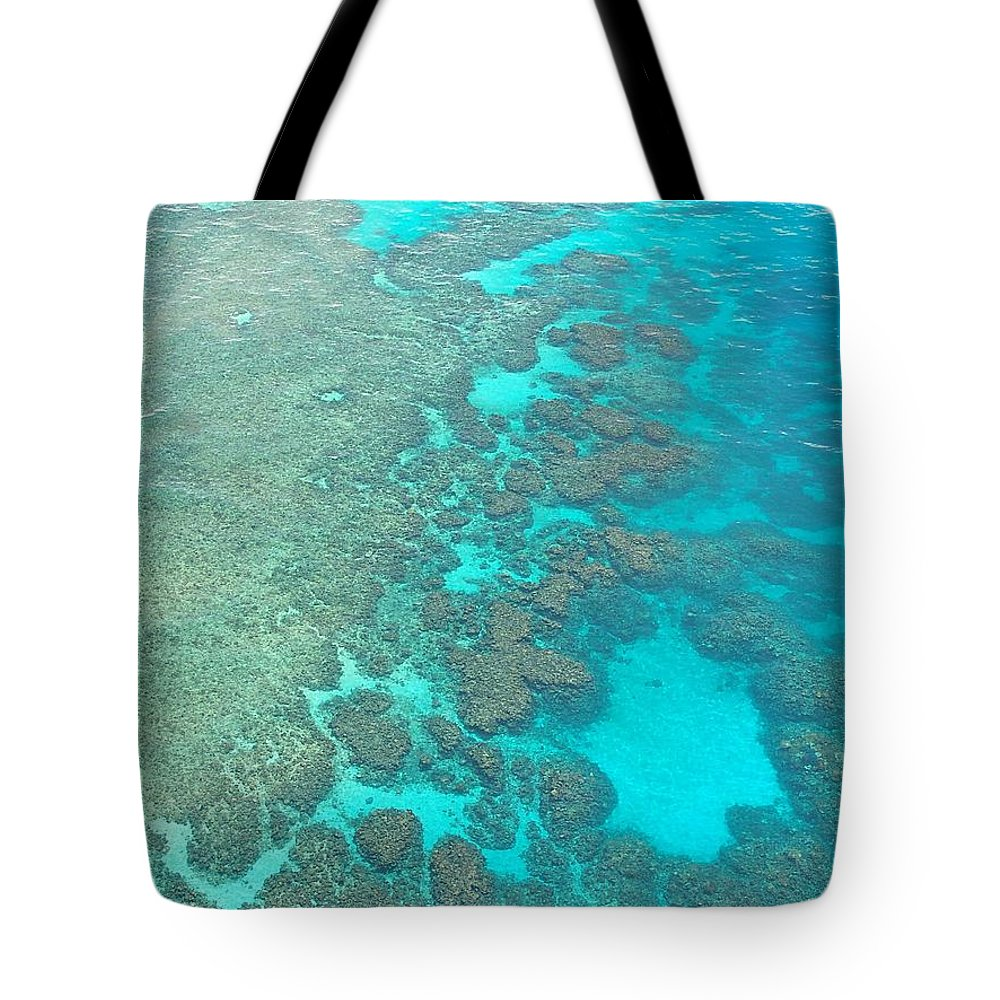 Reef Tote Bag featuring the photograph Barrier Reef by FL collection