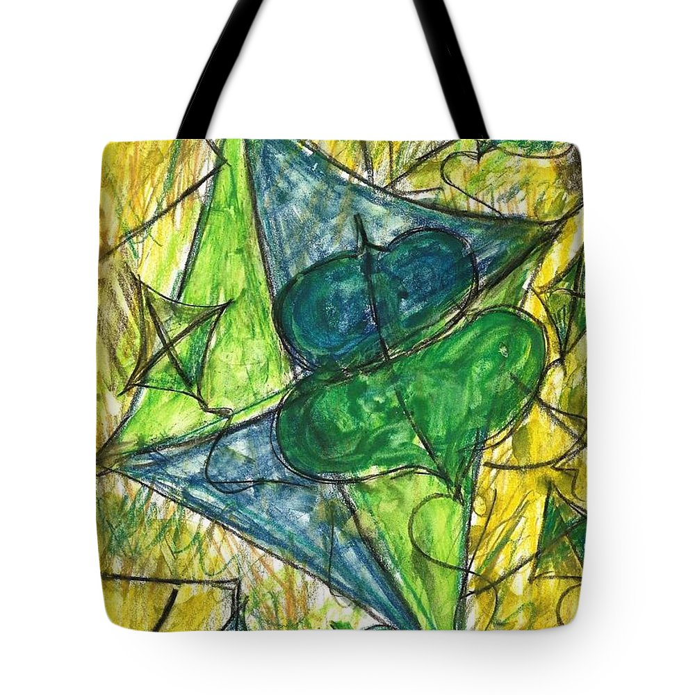 Painting Tote Bag featuring the painting Basant I by Fareeha Khawaja