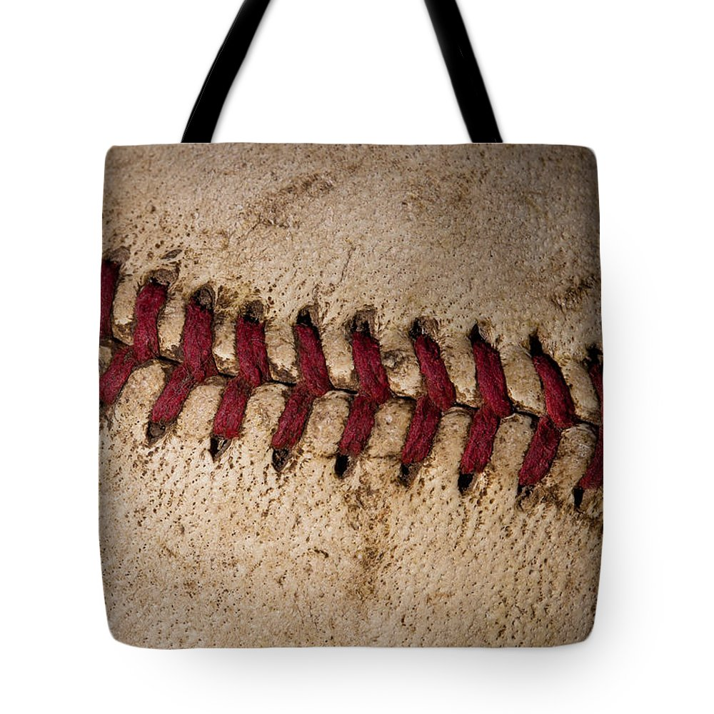 Baseball Tote Bag featuring the photograph Baseball - America's Pastime by David Patterson