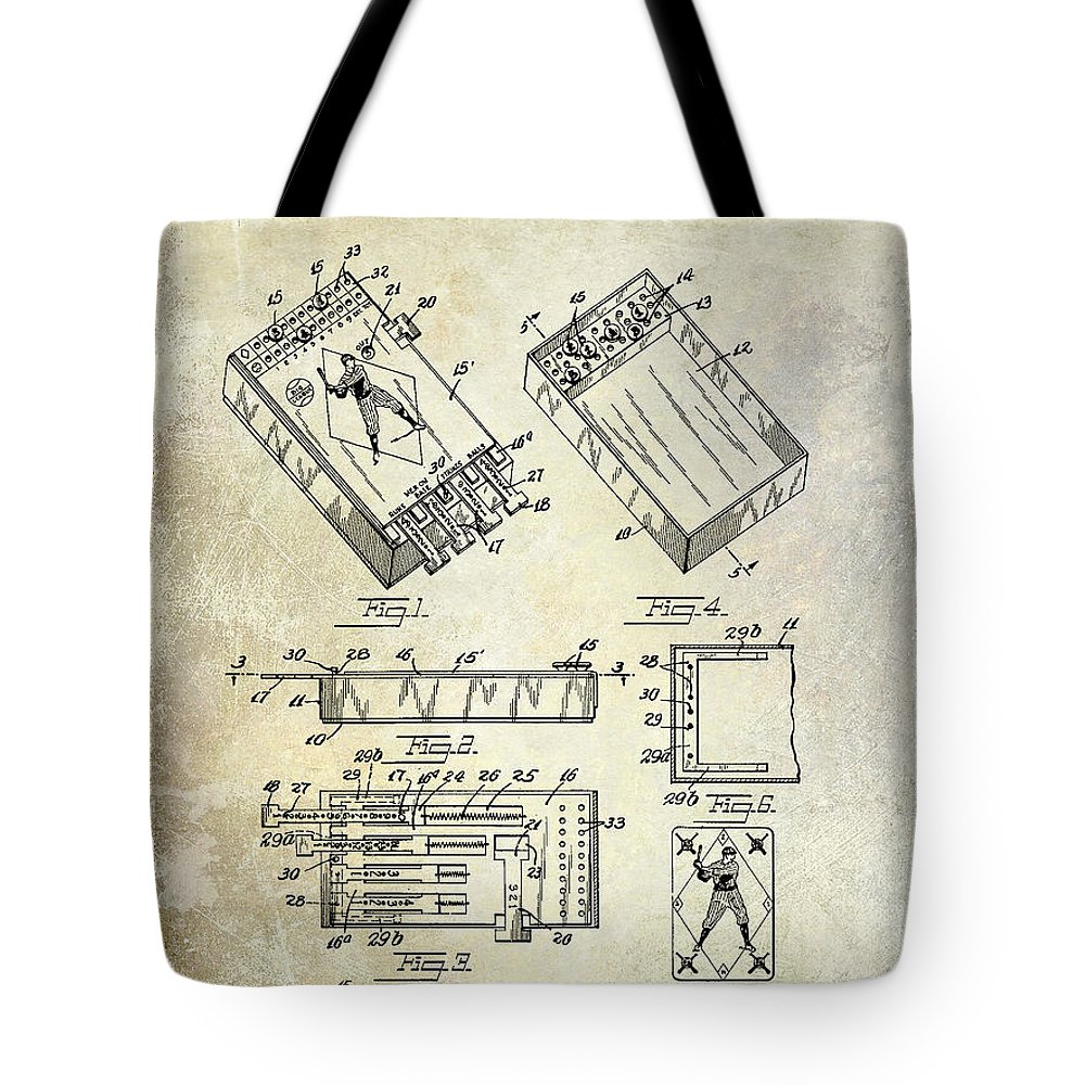 Baseball Game Cards Tote Bag featuring the photograph Baseball Card Game by Jon Neidert