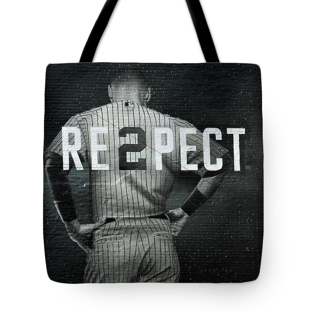 Yankees Tote Bag featuring the photograph Baseball With Jeter Ny by Jewels Hamrick