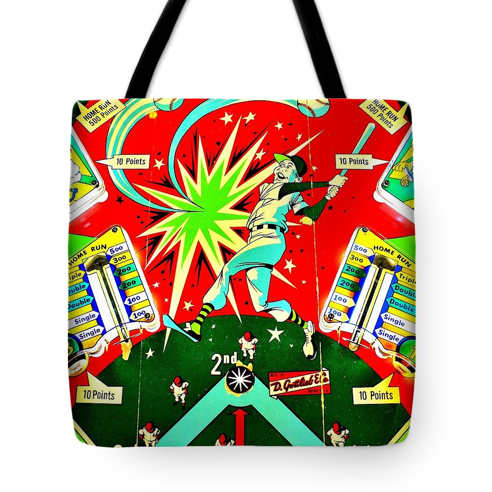 Pinball Tote Bag featuring the photograph Baseball Playfield by Benjamin Yeager