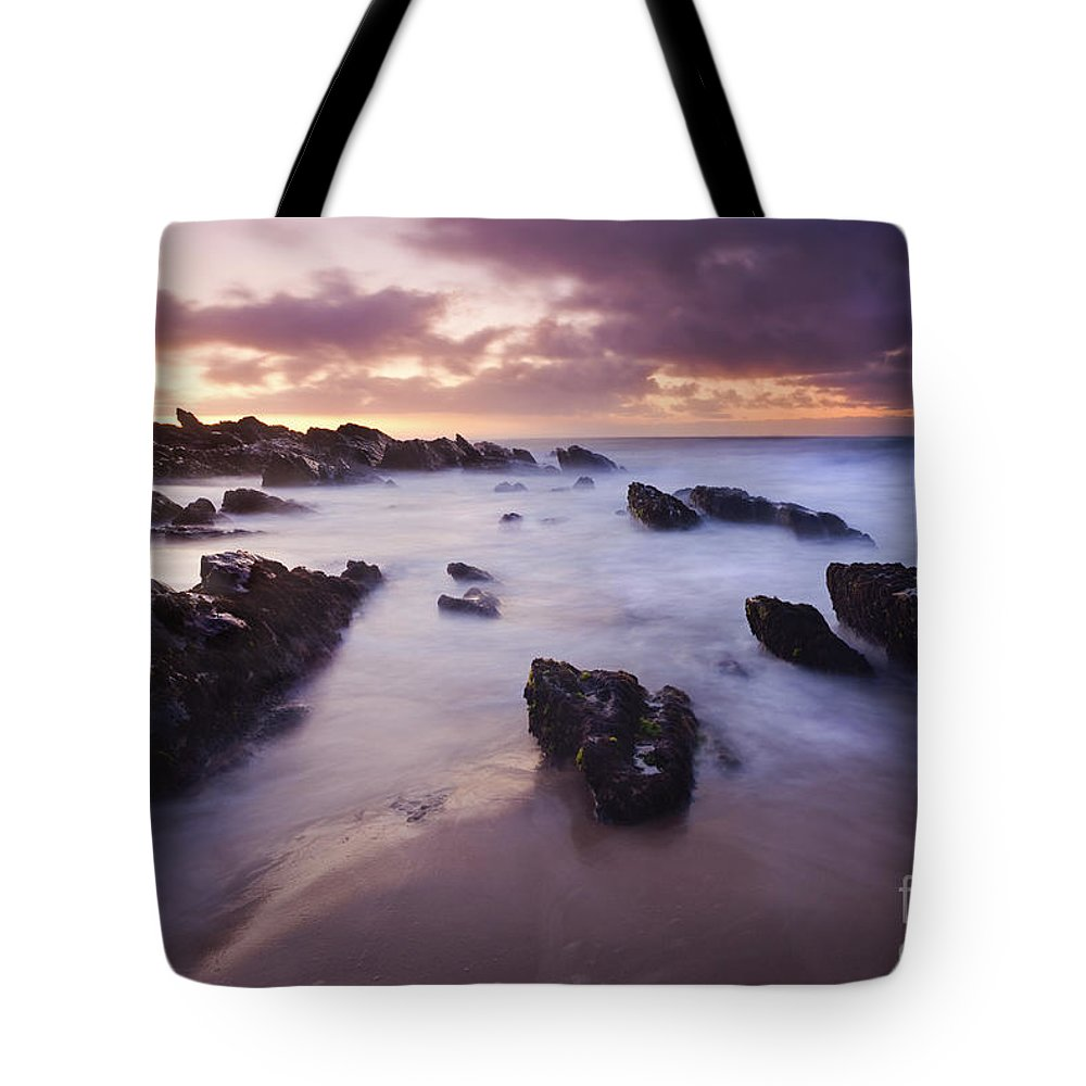 Dawn Tote Bag featuring the photograph Basham Twilight by Mike Dawson