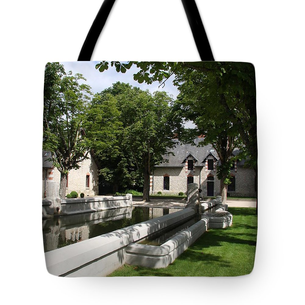 Water Tote Bag featuring the photograph Basin In The Castle Yard by Christiane Schulze Art And Photography