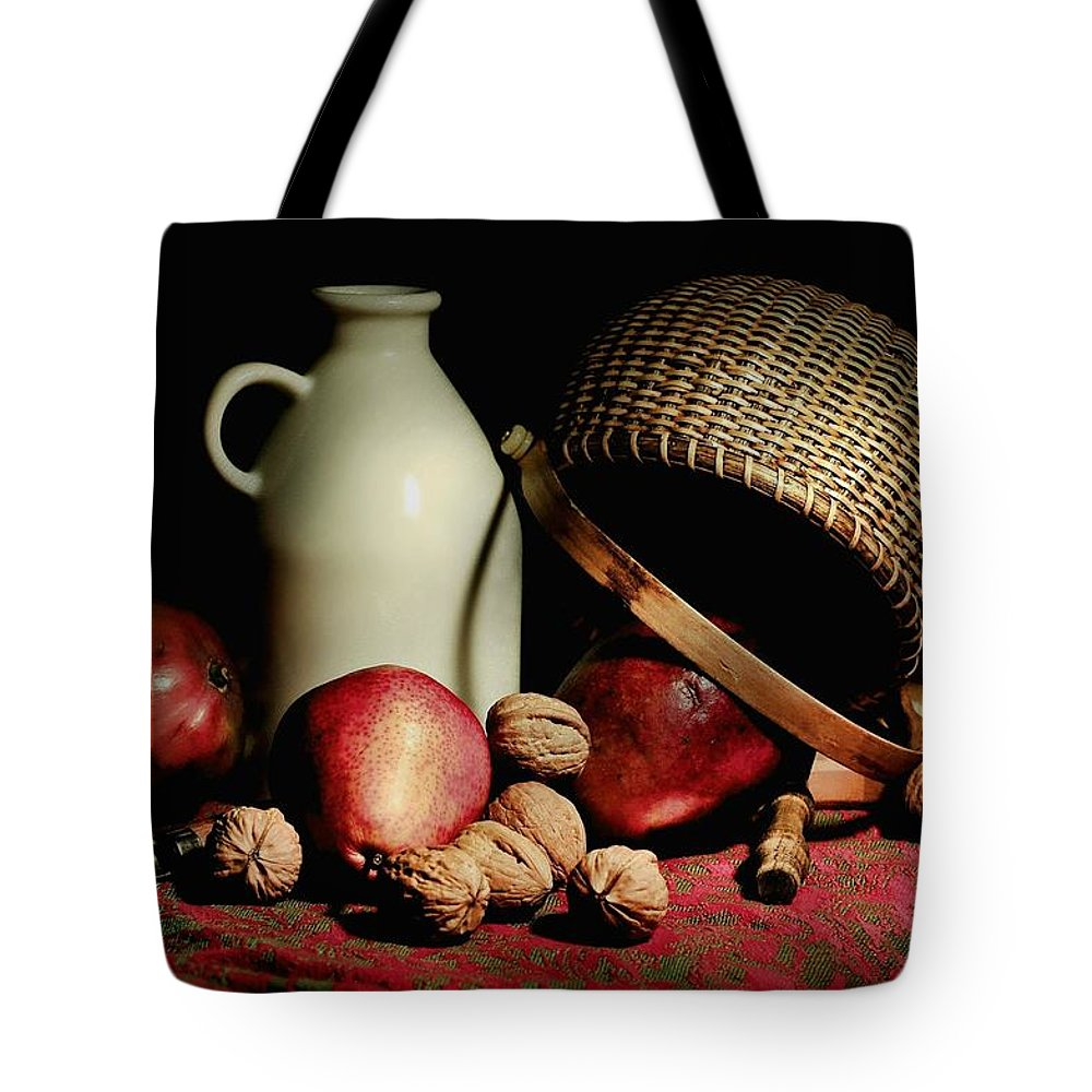 Still Life Tote Bag featuring the photograph Basket Weave by Diana Angstadt
