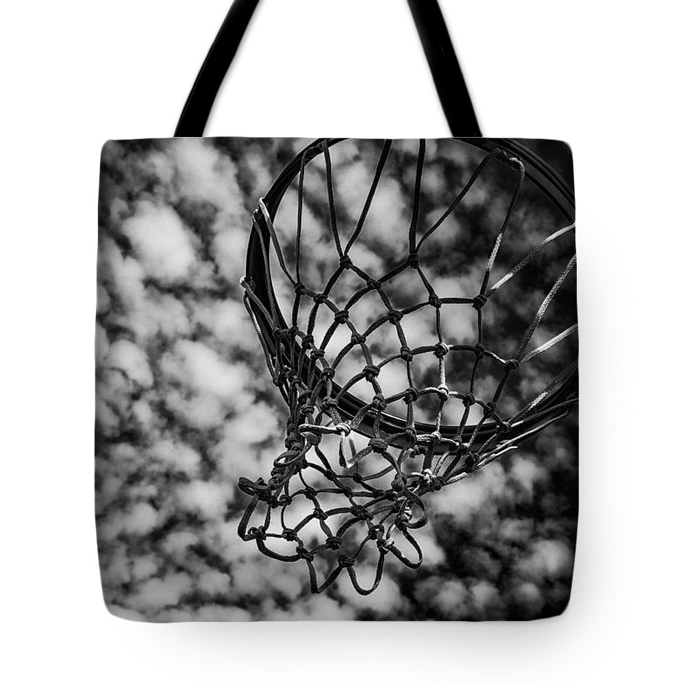 Basketball Heaven Tote Bag featuring the photograph Basketball Heaven by Karol Livote
