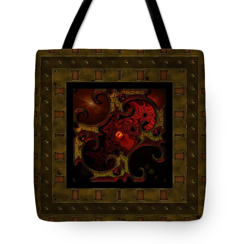 Abstract: Color; Abstract: Geometric Tote Bag featuring the digital art Basketweave Nine by Ann Stretton