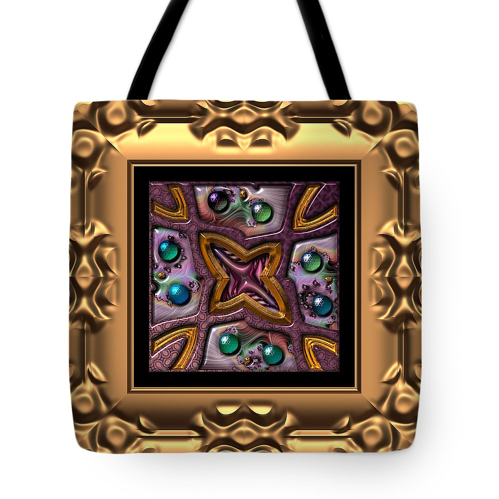 Abstract: Color; Abstract: Geometric Tote Bag featuring the digital art Basketweave Six by Ann Stretton
