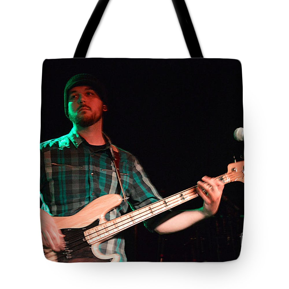 Bass Tote Bag featuring the photograph Bass Guitar Musician by Catherine Sherman