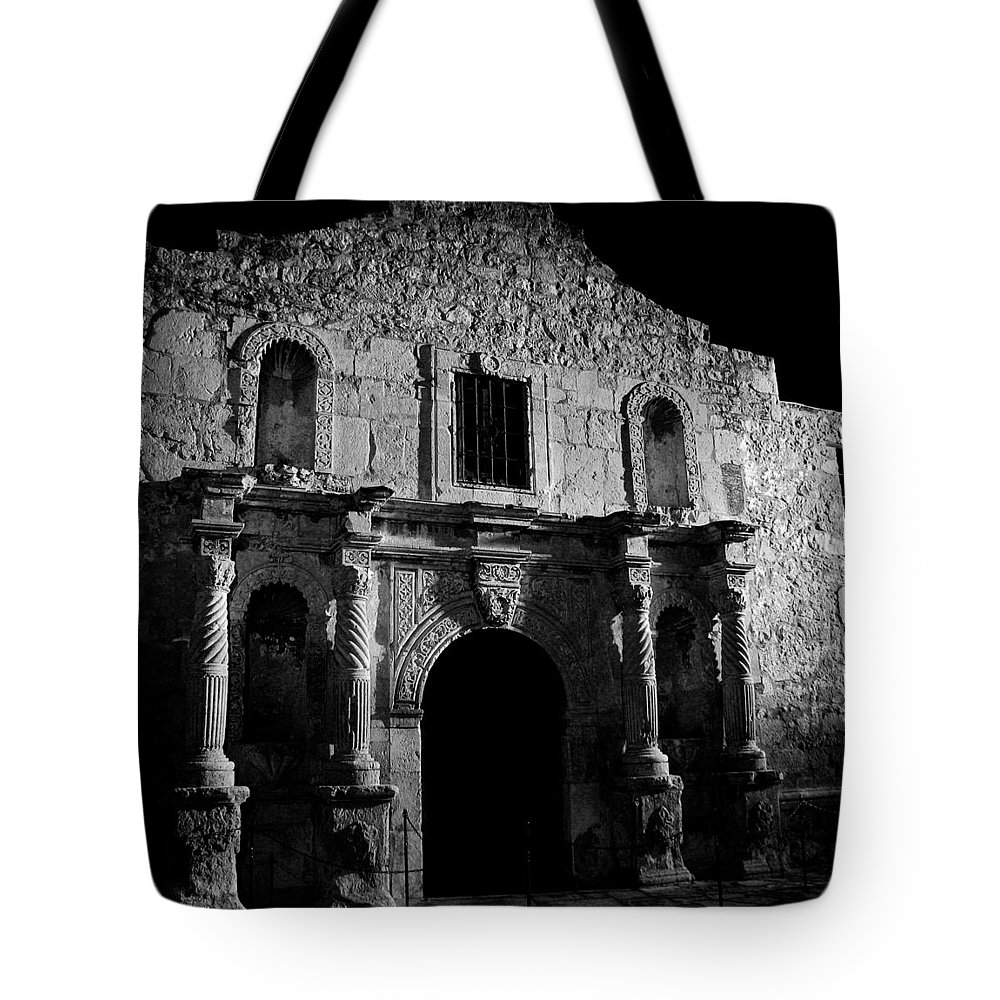 The Alamo Tote Bag featuring the photograph Bastion Of Legends by Mountain Dreams