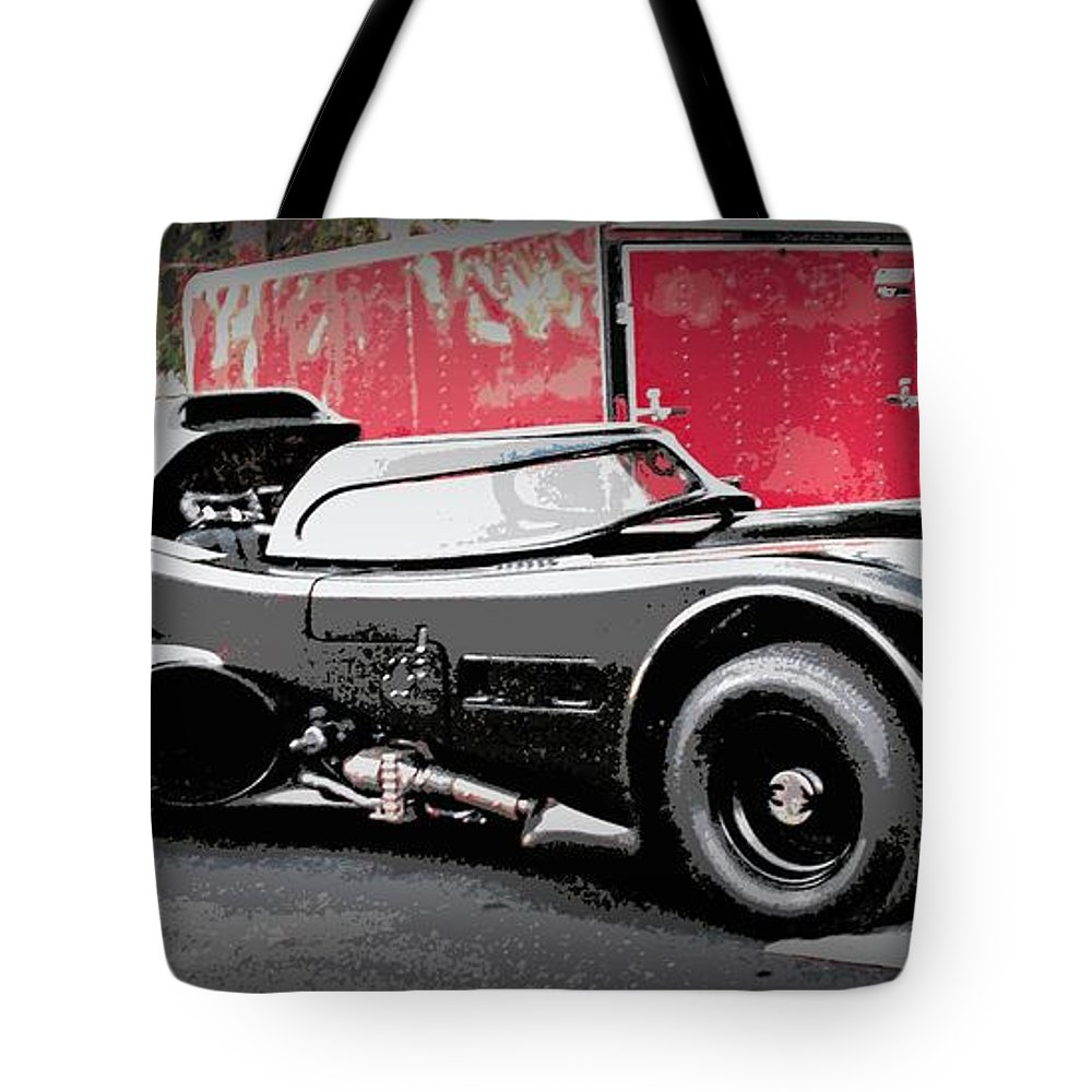 Batmobile Tote Bag featuring the photograph Batmobile by Cathy Smith