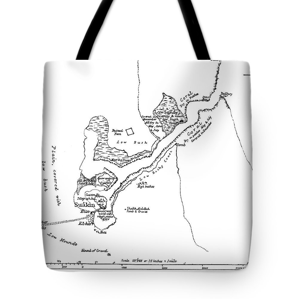 1884 Tote Bag featuring the painting Battle Of El Teb, 1884 by Granger