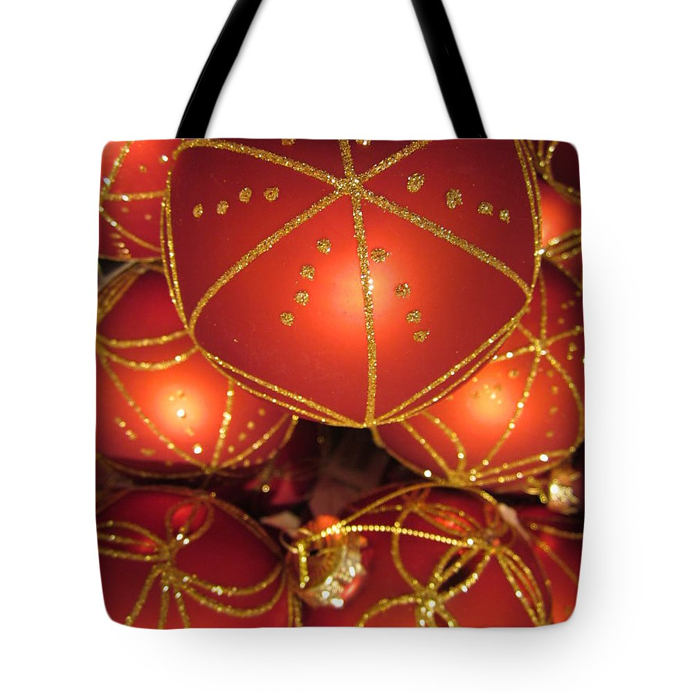 Baubles Tote Bag featuring the photograph Baubles 2 by Rosita Larsson