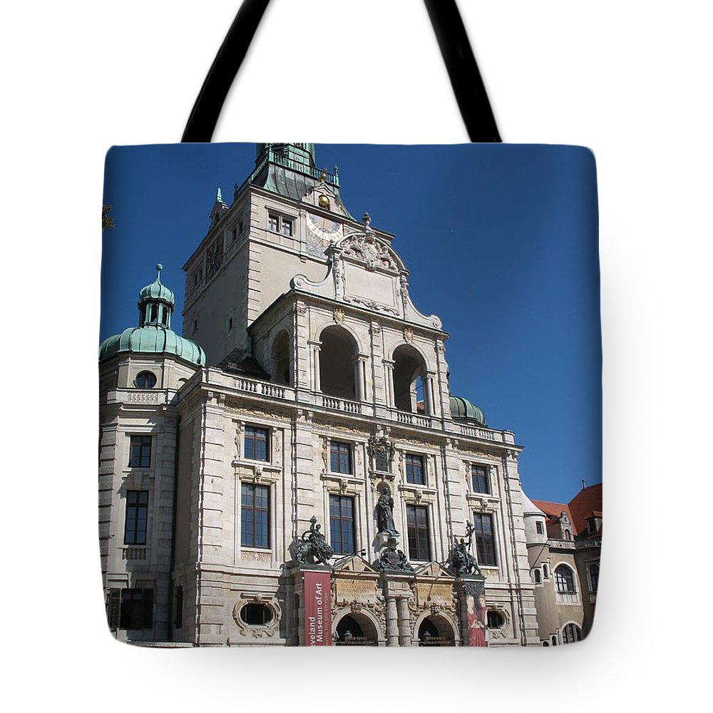 Museum Tote Bag featuring the photograph Bavarian National Museum by Christiane Schulze Art And Photography