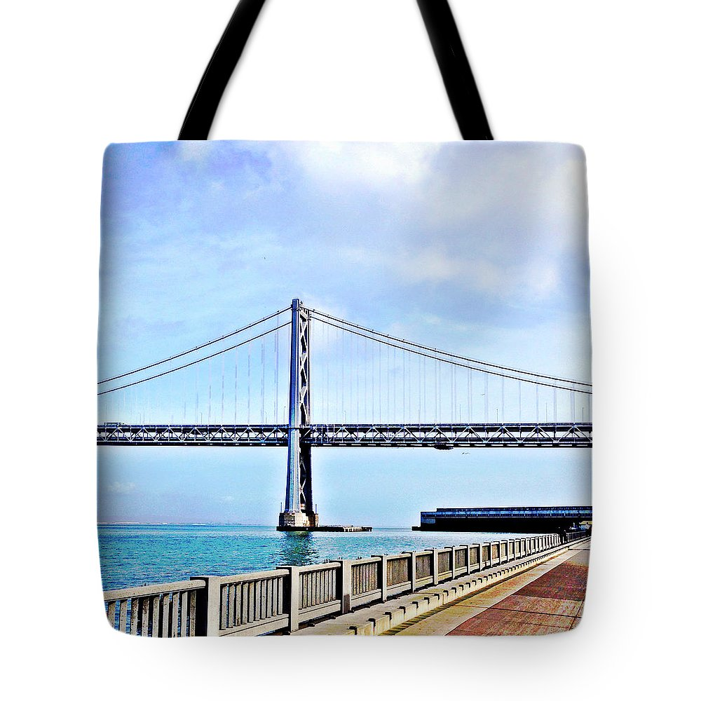 Bay Bridge Tote Bag featuring the photograph Bay Bridge by Julie Gebhardt