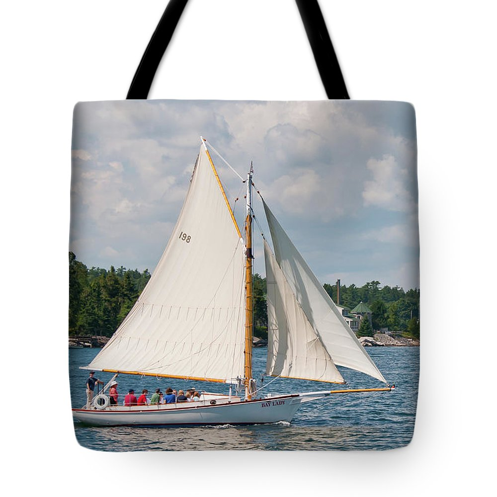 Boat Tote Bag featuring the photograph Bay Lady 1270 by Guy Whiteley