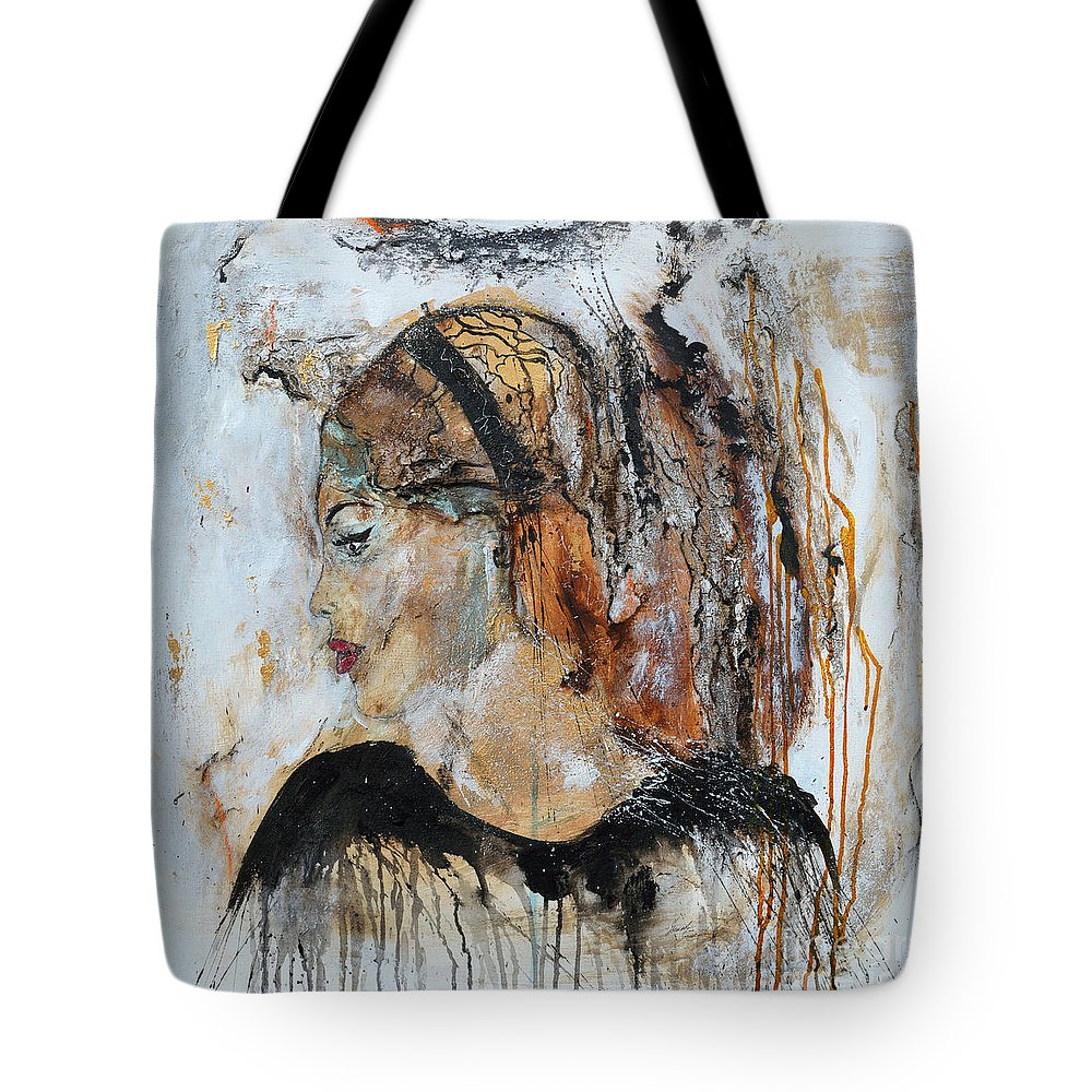 Abstract Art Tote Bag featuring the painting B.b. by Ismeta Gruenwald
