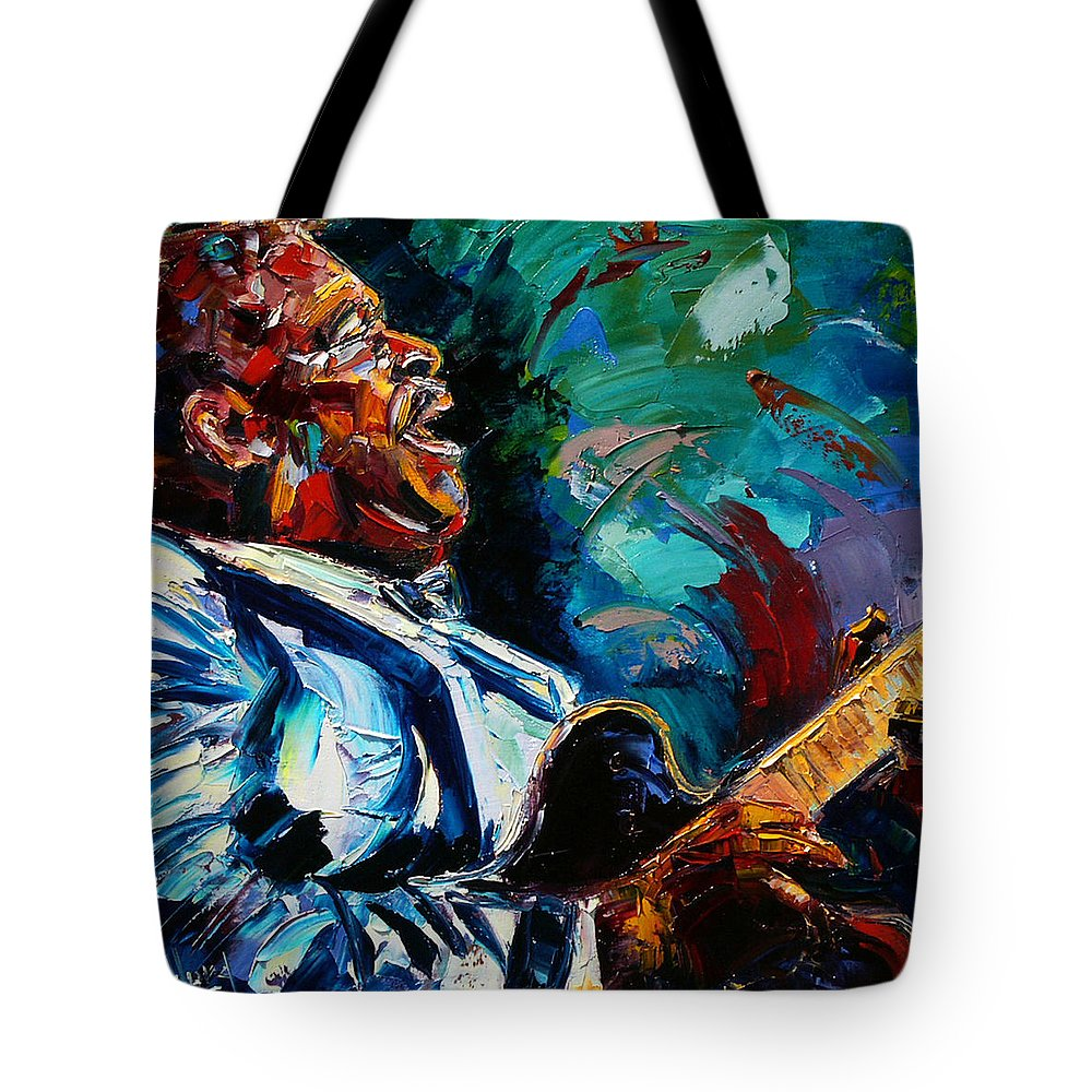 Musicians Tote Bag featuring the painting BB King by Debra Hurd
