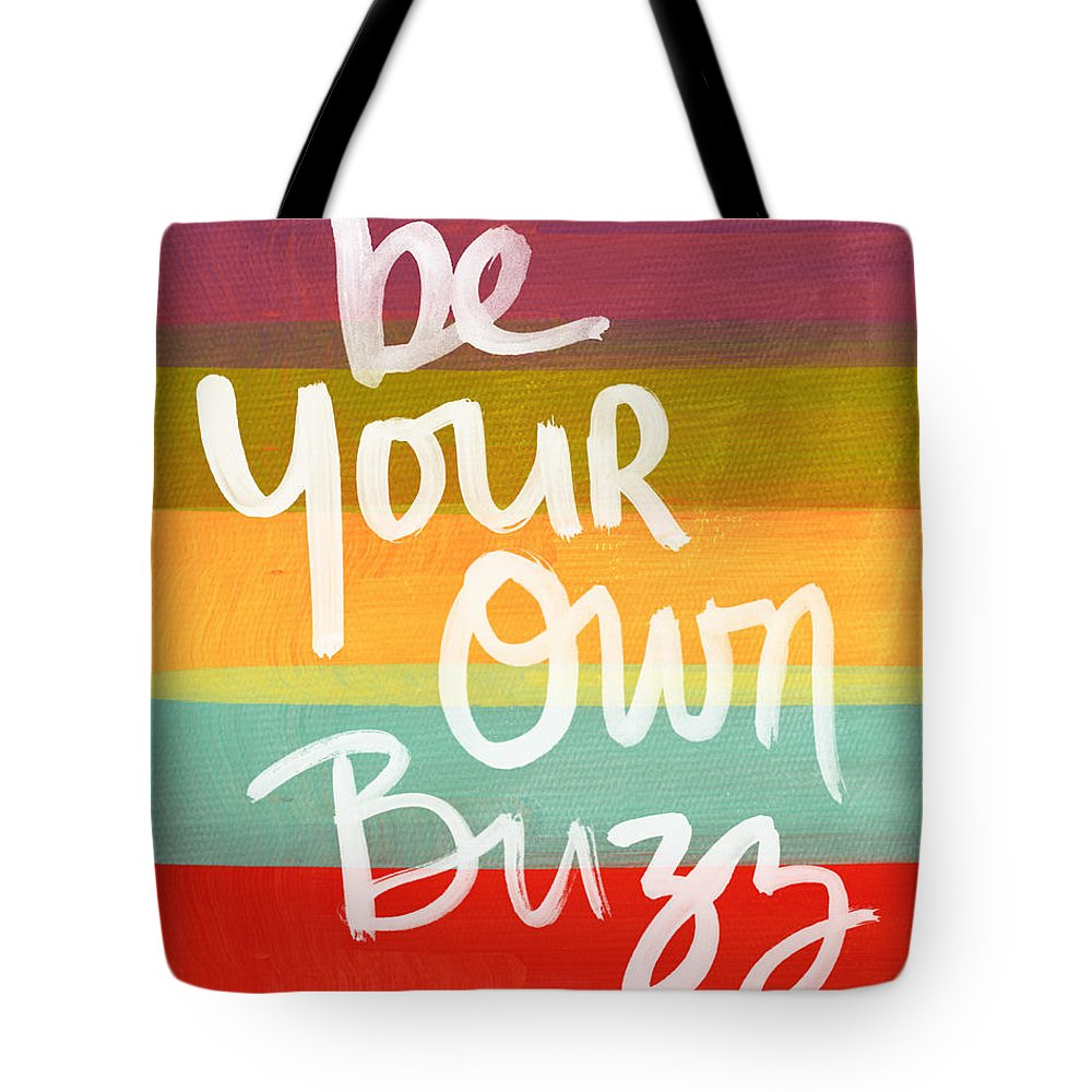 Stripes Tote Bag featuring the painting Be Your Own Buzz by Linda Woods