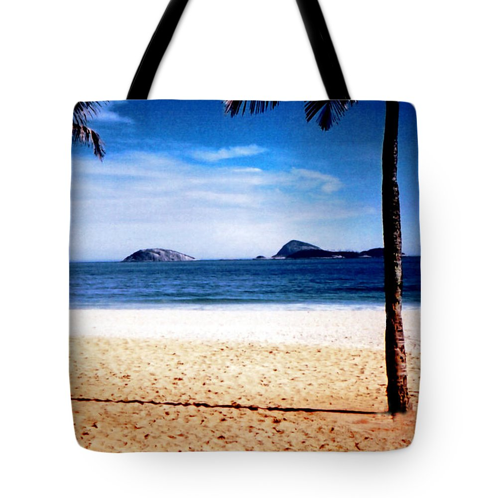 Sand Tote Bag featuring the photograph Beach At Ipanema - 1 by Glenn Aker